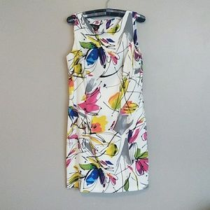 AGB Abstract Floral Sleeveless Shift Dress